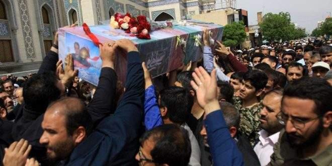 مراسم تشییع و طواف پیکر مطهر شهید عالی مقام مدافع حرم مجید قربانخانی (حر مدافعان حرم)