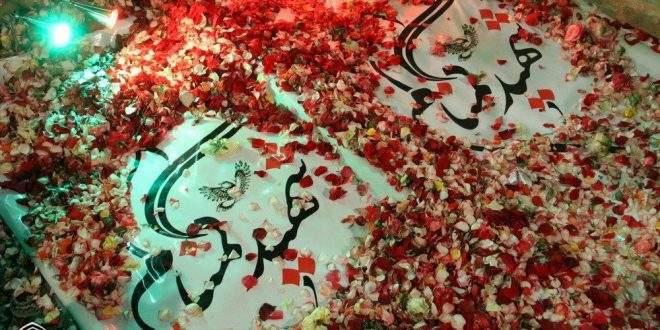 پاسداشت مقام شهدای گمنام و یادبود شانزدهمین سالگرد تدفین هشت شهید گمنام دفاع مقدس در جبل النورکوهسنگی