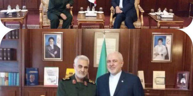 سردار سلیمانی در وزارت خارجه با ظریف دیدار کرد