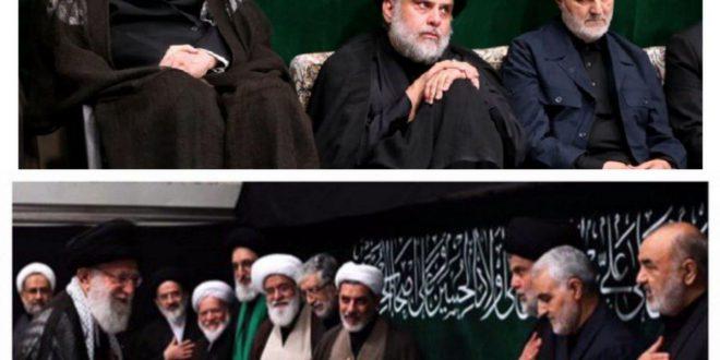 حضور مقتدي صدر در حسينه امام خميني