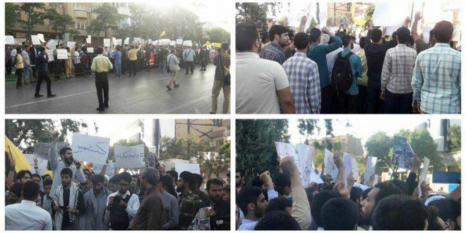 تجمع اعتراضی دانشجویان، طلاب و مردم انقلابی مشهد در محکومیت کشتار مردم مظلوم کشمیر
