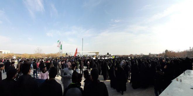 تجمع بزرگ ضد استکباری دانشجویان و تشکل های انقلابی دانشگاه فردوسی مشهد